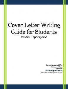 Cover Letter Writing Guide for Students