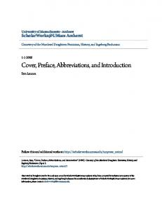 Cover, Preface, Abbreviations, and Introduction