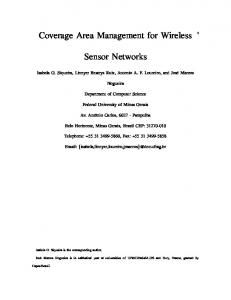 Coverage Area Management for Wireless. Sensor Networks