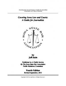 Covering Iowa Law and Courts: A Guide for Journalists