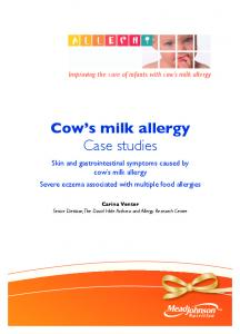 cow s milk allergy Case studies