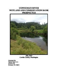 COWEEMAN RIVER WETLAND AND CONSERVATION BANK PROSPECTUS