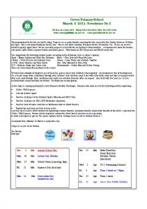 Cowes Primary School March Newsletter No 5