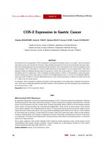 COX-2 Expression in Gastric Cancer