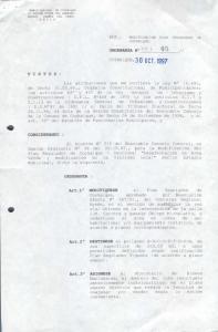 COYHAIQUE, 3 o OCT.1997