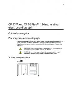 CP 50 and CP 50 Plus 12-lead resting electrocardiograph