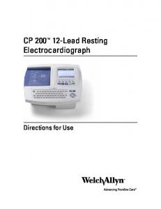 CP Lead Resting Electrocardiograph. Directions for Use