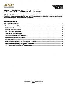 CPC TCP Talker and Listener