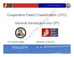 CPC User Day 10 July 2012