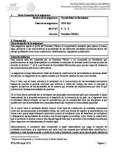 CPD-1011 SATCA 1 : Carrera: