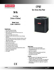 CPKF Split System Heat Pump
