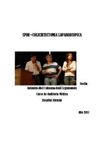 CPRE+COLECISTECTOMIA LAPAROSCOPICA