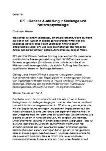 CPT - Gezielte Ausbildung in Seelsorge und Pastoralpsychologie