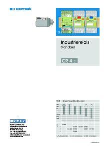 CR Industrierelais Standard CR 4