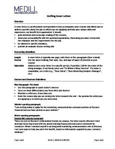 Crafting Cover Letters