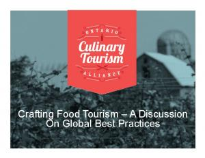 Crafting Food Tourism A Discussion On Global Best Practices