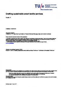 Crafting sustainable smart textile services