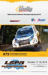 Craig Drew 2014 Rally America National Champions
