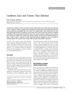 Cranberry Juice and Urinary Tract Infection