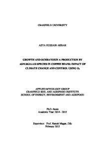 CRANFIELD UNIVERSITY ASYA HUSSAIN AKBAR