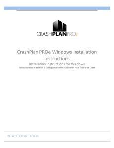 CrashPlan PROe Windows Installation Instructions