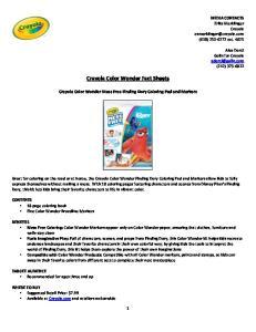 Crayola Color Wonder Fact Sheets
