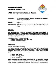 CRD Emergency Hazmat Team