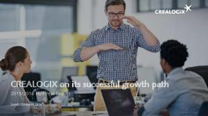 CREALOGIX on its successful growth path