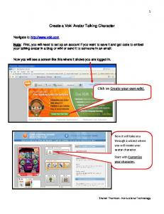 Create a Voki Avatar Talking Character