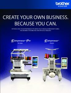 CREATE YOUR OWN BUSINESS. BECAUSE YOU CAN