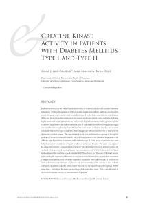 Creatine Kinase Activity in Patients with Diabetes Mellitus Type I and Type II