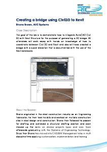 Creating a bridge using Civil3D to Revit