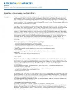 Creating a Knowledge-Sharing Culture