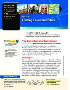 Creating a New Constitution