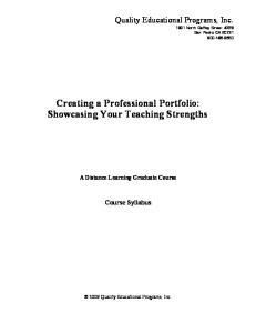 Creating a Professional Portfolio: Showcasing Your Teaching Strengths