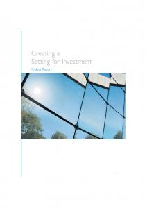 Creating a Setting for Investment. Project Report