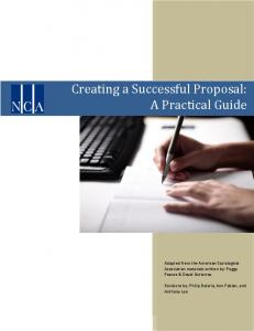 Creating a Successful Proposal: A Practical Guide