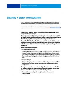 CREATING A SYSTEM CONFIGURATION