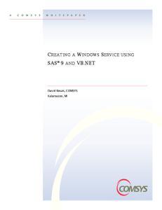 Creating a Windows Service using