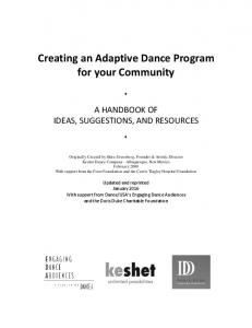 Creating an Adaptive Dance Program for your Community