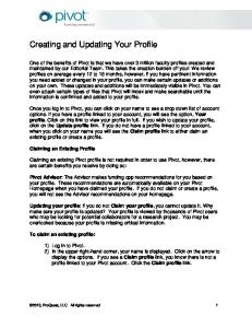 Creating and Updating Your Profile