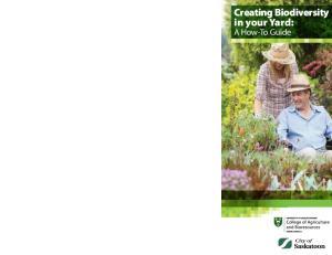 Creating Biodiversity in your Yard: