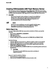 Creating DOS-bootable USB Flash Memory Device