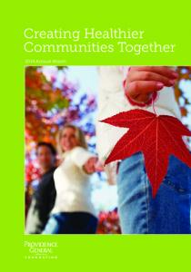 Creating Healthier Communities Together Annual Report
