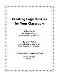 Creating Logic Puzzles for Your Classroom