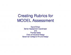 Creating Rubrics for MODEL Assessment