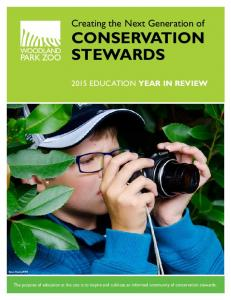 Creating the Next Generation of CONSERVATION STEWARDS