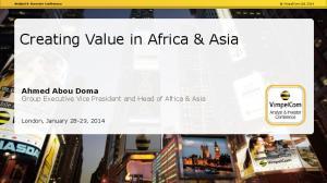 Creating Value in Africa & Asia