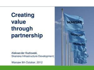 Creating value through partnership