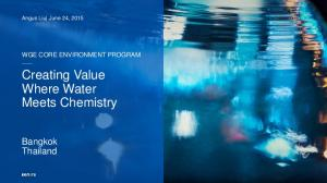 Creating Value Where Water Meets Chemistry